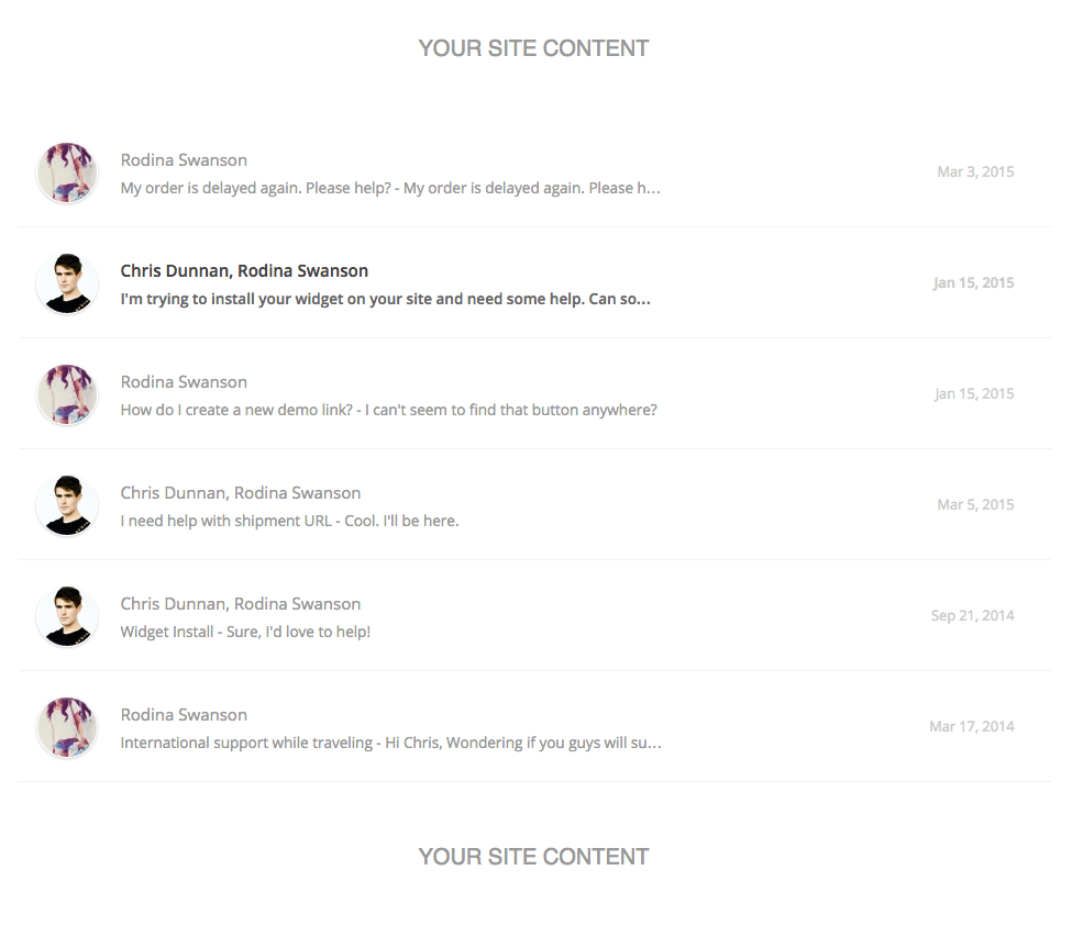Widget conversations