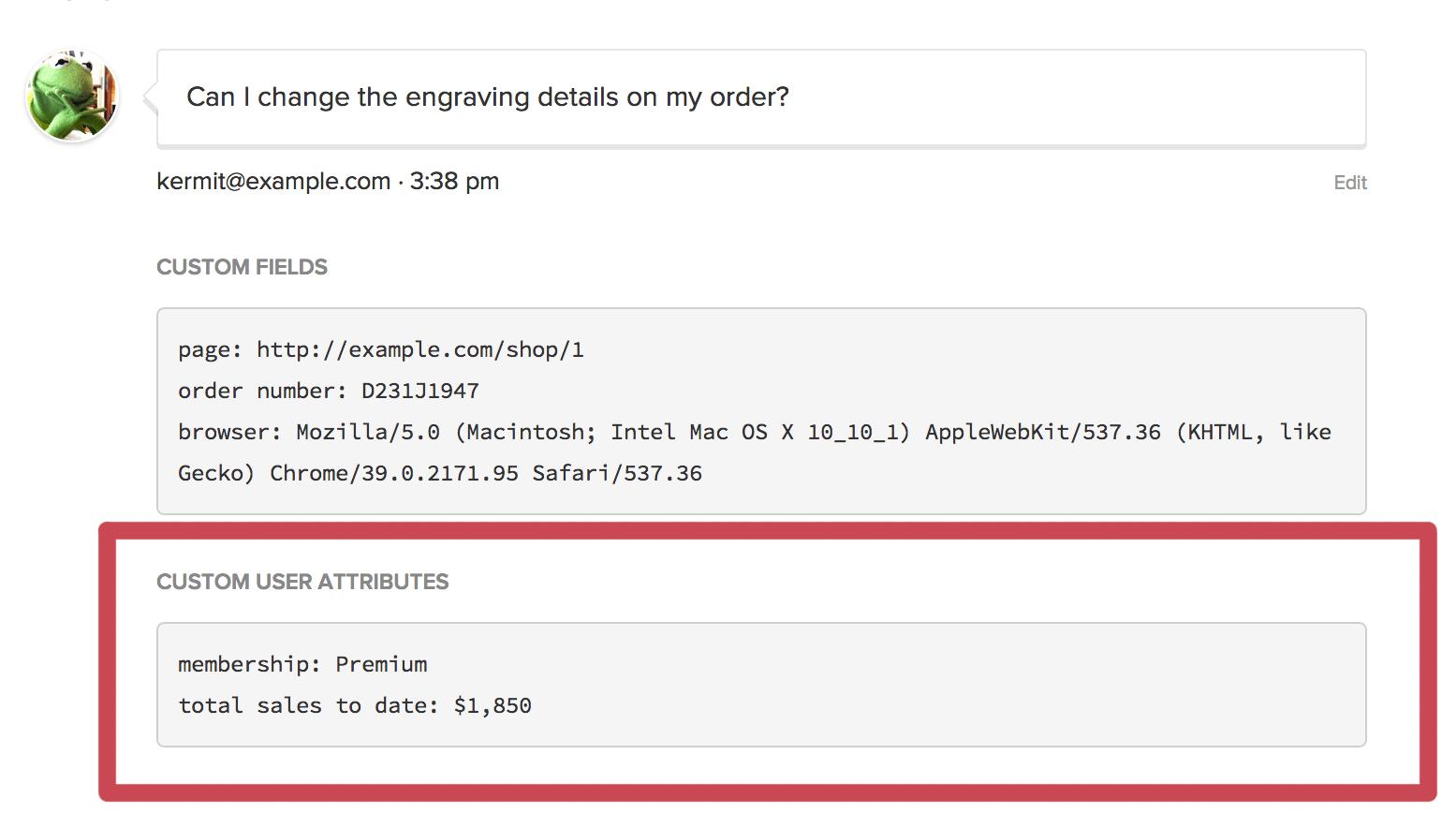 Widget data